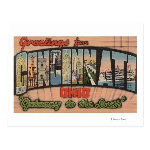 Cincinnati, Ohio (Gateway to the South) Postcards