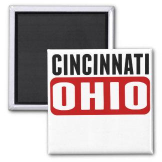 Cincinnati Ohio Imán Cuadrado
