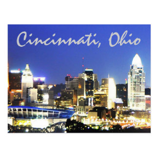 Cincinnati, Ohio, la ciudad de la reina Tarjeta Postal