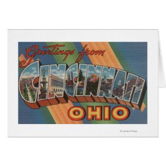 Cincinnati, Ohio - Large Letter Scenes 2 Cards