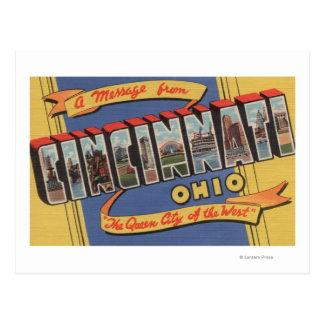 Cincinnati, Ohio - Large Letter Scenes Postcards