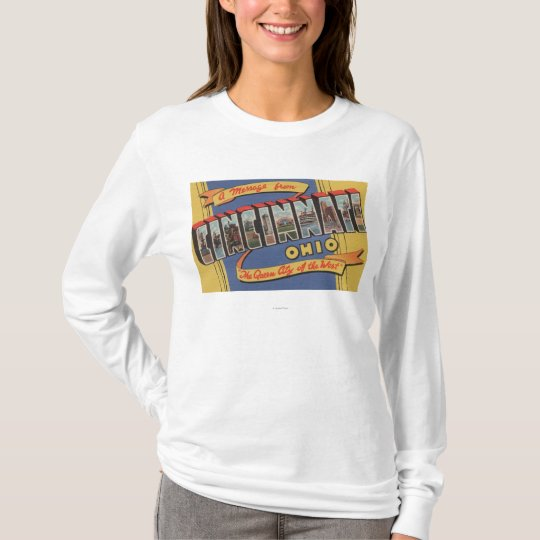 Cincinnati, Ohio - Large Letter Scenes T-Shirt