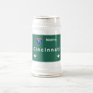 Cincinnati Ohio oh Interstate Highway Freeway : Beer Stein