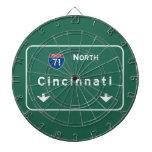 Cincinnati Ohio oh Interstate Highway Freeway : Dartboard With Darts