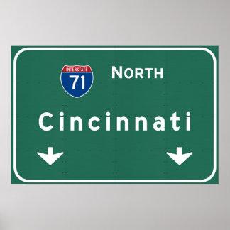 Cincinnati Ohio oh Interstate Highway Freeway : Poster