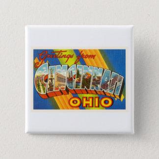 Cincinnati Ohio OH Old Vintage Travel Souvenir Pinback Button