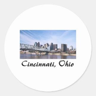Cincinnati Ohio Pegatina Redonda