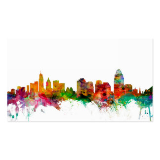Cincinnati Ohio Skyline Business Card