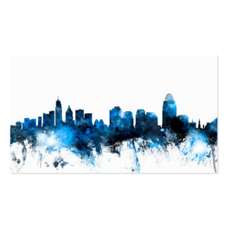 Cincinnati Ohio Skyline Business Card Template