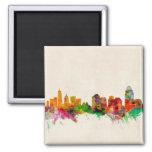 Cincinnati Ohio Skyline Cityscape 2 Inch Square Magnet