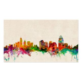 Cincinnati Ohio Skyline Cityscape Business Card Template