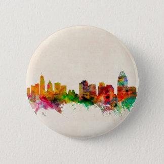 Cincinnati Ohio Skyline Cityscape Pinback Button