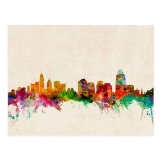 Cincinnati Ohio Skyline Cityscape Postcard