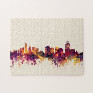 Cincinnati Ohio Skyline Jigsaw Puzzle