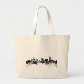 Cincinnati Ohio Skyline Large Tote Bag