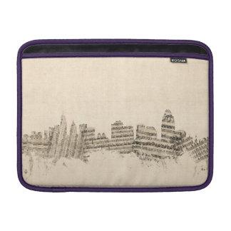 Cincinnati Ohio Skyline Sheet Music Cityscape MacBook Sleeve