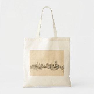 Cincinnati Ohio Skyline Sheet Music Cityscape Tote Bag
