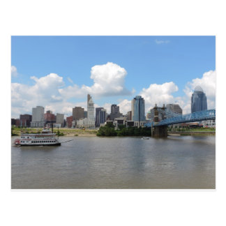 Cincinnati Ohio skyline with the Ohio River Postcards