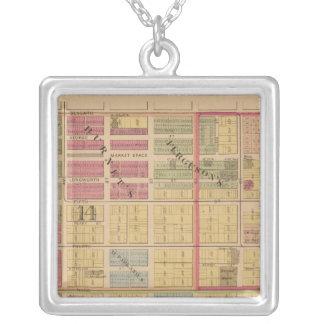 Cincinnati, Ohio Square Pendant Necklace