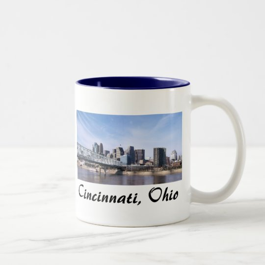Cincinnati Ohio Two-Tone Coffee Mug