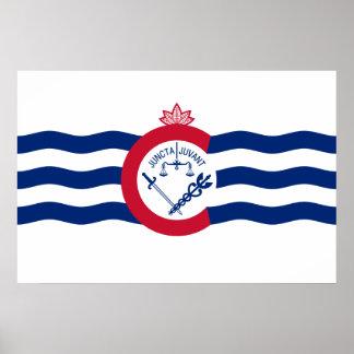 Cincinnati, Ohio, United States flag Poster