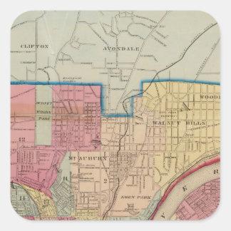 Cincinnati, Ohio y vecindad Colcomanias Cuadradases
