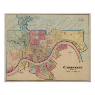 Cincinnati, Ohio y vecindad Póster