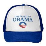 CINCINNATI para el personalizado de Obama su ciuda Gorros