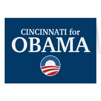 CINCINNATI para el personalizado de Obama su ciuda Tarjeta De Felicitación