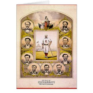 Cincinnati Red Stockings of 1869 Card
