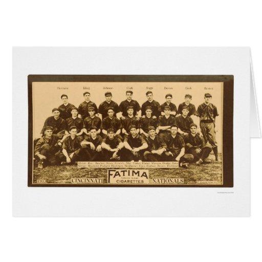 Cincinnati Reds Baseball 1913 Greeting Card