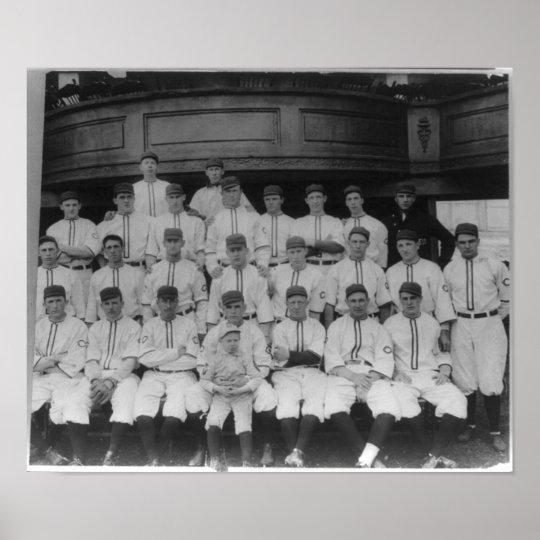 Cincinnati Reds Baseball Team Vintage 1910 Poster
