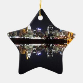 Cincinnati Reflection Ceramic Ornament
