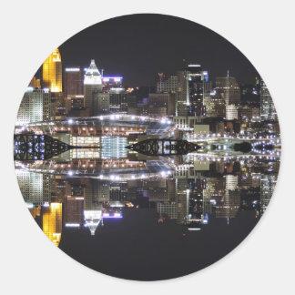 Cincinnati Reflection Classic Round Sticker
