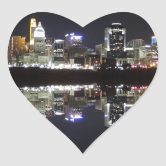 Cincinnati Reflection Heart Sticker