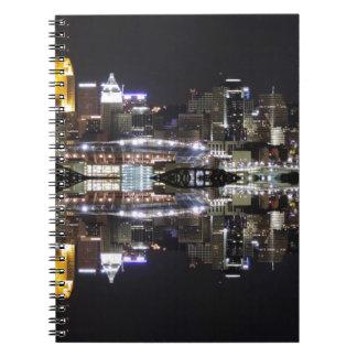 Cincinnati Reflection Spiral Note Book