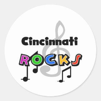 Cincinnati Rocks Classic Round Sticker