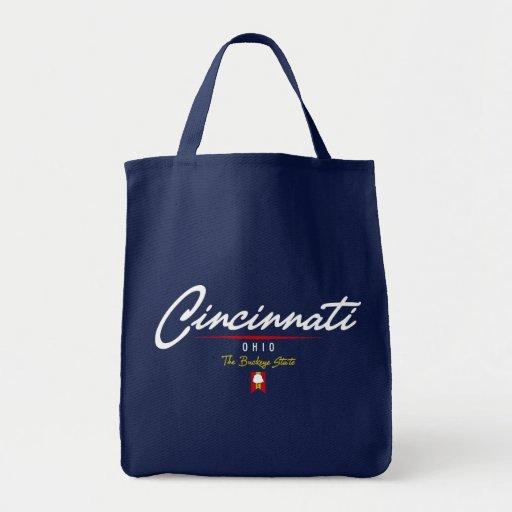 Cincinnati Script Tote Bag