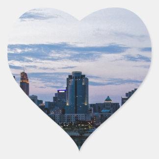 Cincinnati Sky Line Heart Sticker