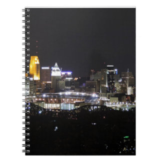 Cincinnati skyline at night note books