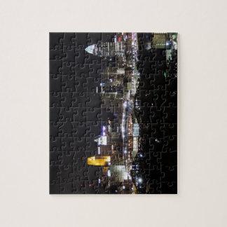 Cincinnati skyline at night puzzle