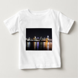 Cincinnati skyline at night t shirt