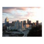Cincinnati skyline at sunset postcard