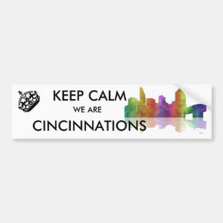 Cincinnati Skyline Bumper Sticker