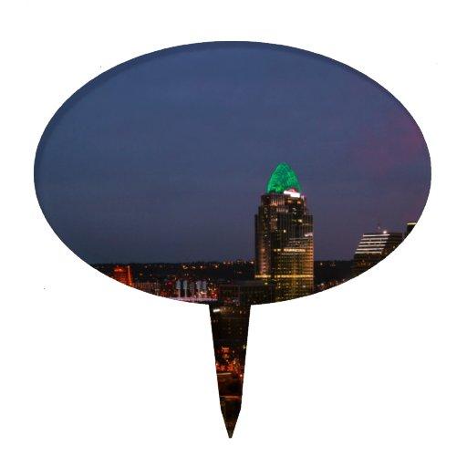 Cincinnati Skyline Cake Picks