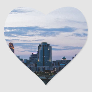 Cincinnati Skyline Heart Sticker
