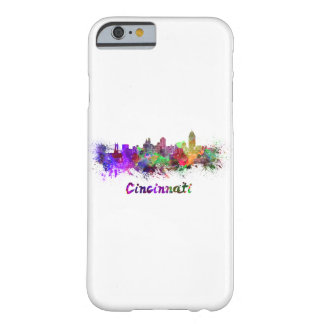 Cincinnati skyline in watercolor barely there iPhone 6 case
