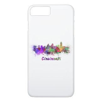 Cincinnati skyline in watercolor iPhone 7 plus case