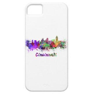 Cincinnati skyline in watercolor iPhone SE/5/5s case