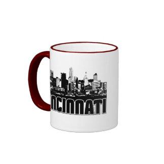 Cincinnati Skyline Coffee Mugs